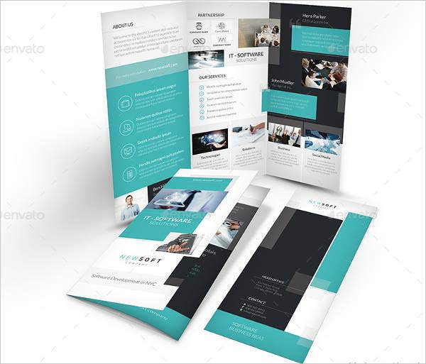 10  software company brochures