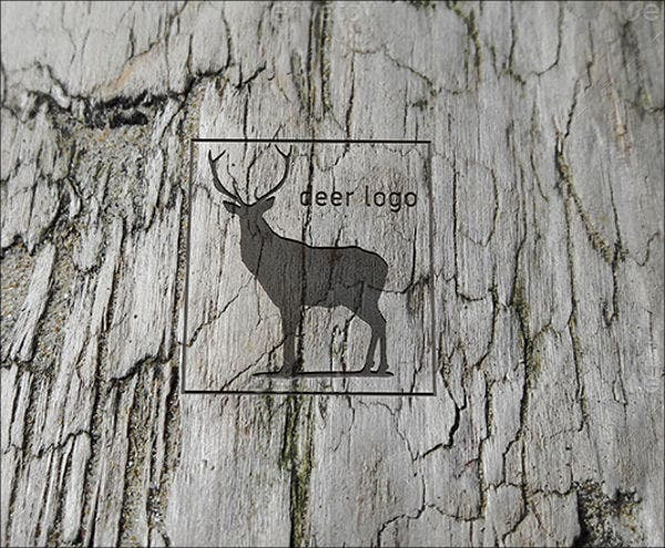 engraved wood logo