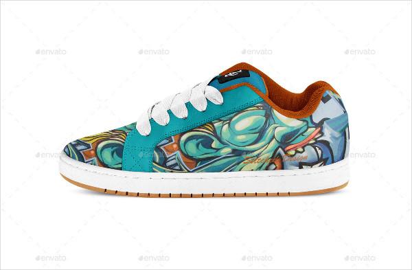 Skate Shoes Mockup
