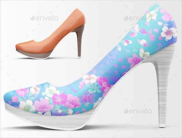 High Resolution Shoes Mockup