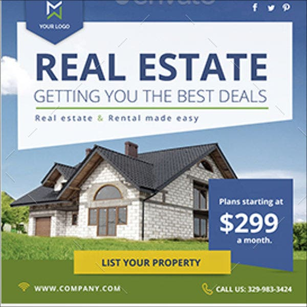 real estate company banner