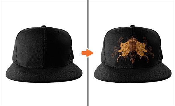 Flat PSD Hat Mockup