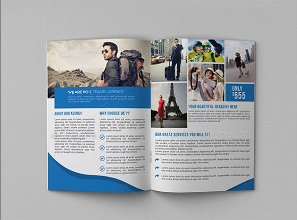 8 travel company brochures editable psd ai vector eps format