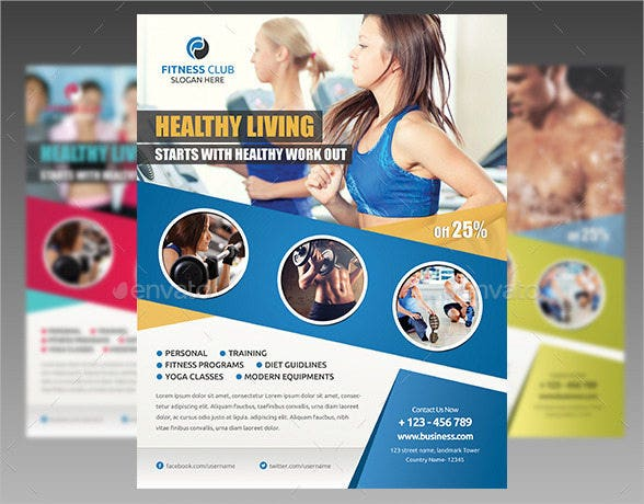 16  fitness center flyers