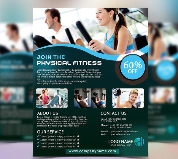 physical-fitness-center-flyer