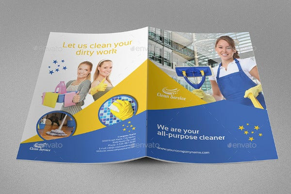 cleaning services company brochure