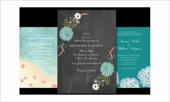 beautiful email wedding invitation template desgin min
