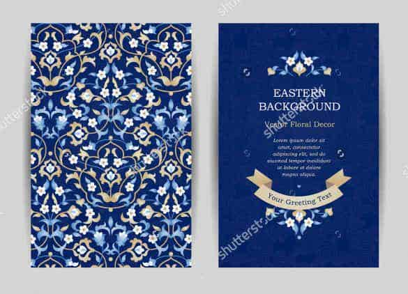 blue background wedding invitation template for download min
