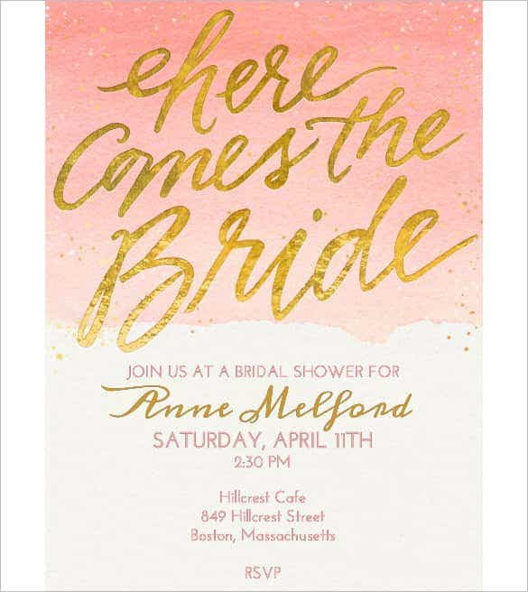Free Electronic Bridal Shower Invitation Templates – Bridal Shower Invitation Templates for Word
