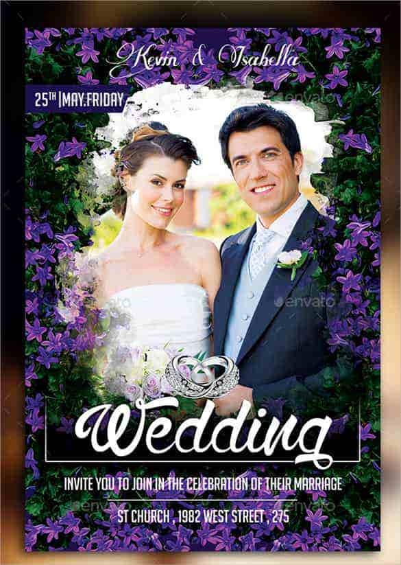 colorful wedding invitation template for download min
