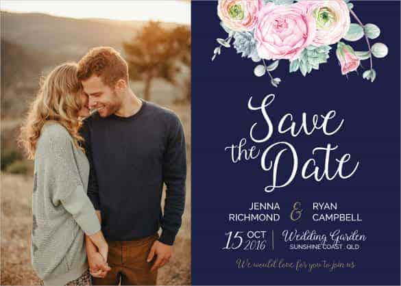 Wedding Invitation Template Free Printable Word PDF PSD - Wedding invitation templates with photo