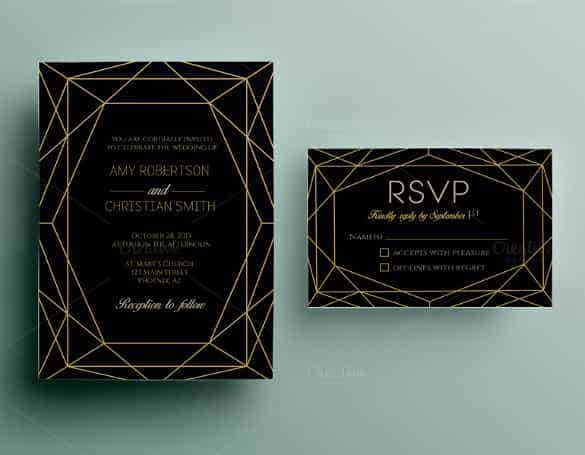 dark background wedding invitation template for download min