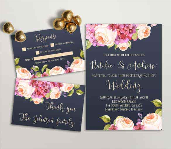 designed wedding invitation template download min