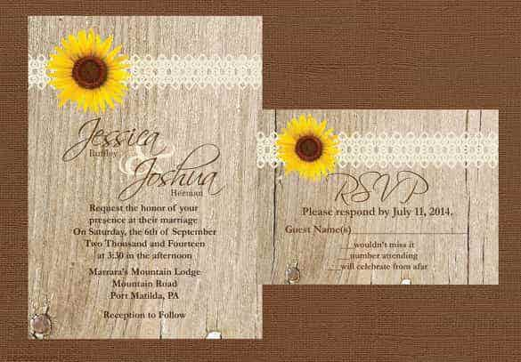 74 wedding invitation templates psd ai free for Free rustic wedding invitation templates