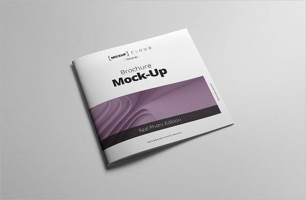 Square Brochure Cover Mockup
