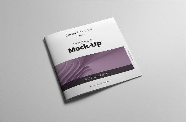 square brochure cover mockup