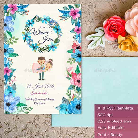 folral designed wedding backgroun template for download min