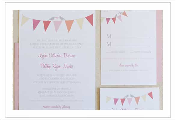 free printable wedding invitation template download min