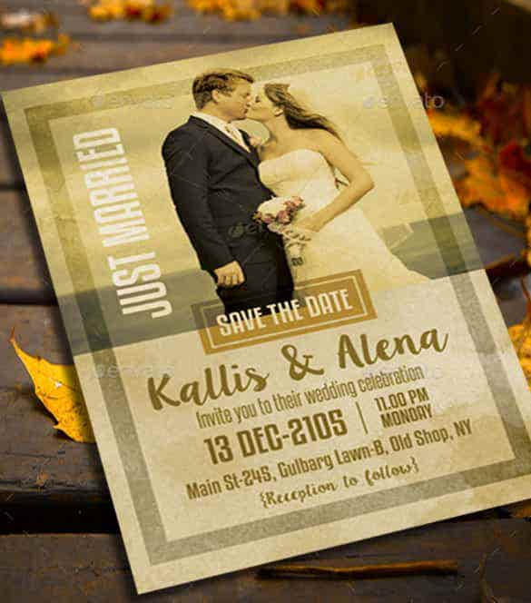 kissing couple theme wedding invitation template download min