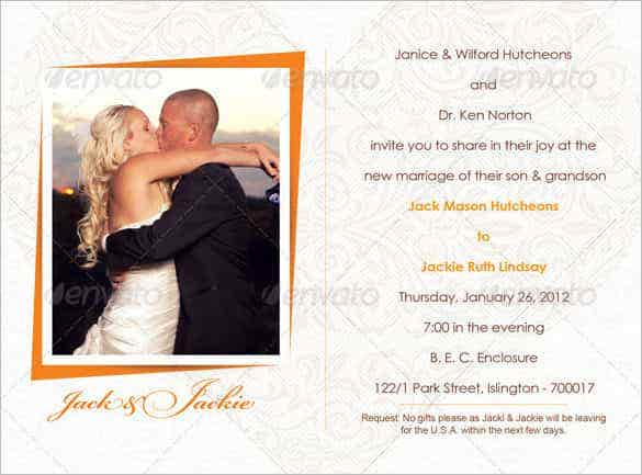 photo wedding invitation bundle psd design download min
