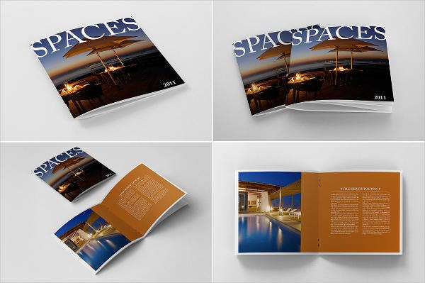 Photorealistic Square Brochure Mockup