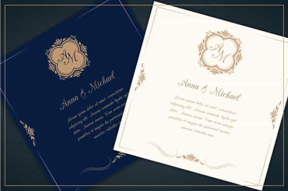 professional wedding invitation template for download min