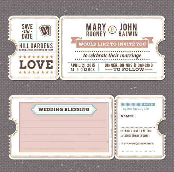 retro vintage wedding invitation template free vector min