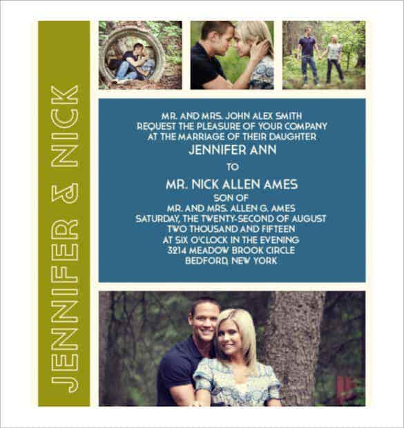 the photo romance modern wedding invitation min