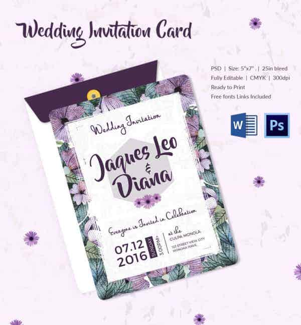 Marriage Invitation Model Psd – orderecigsjuicefo