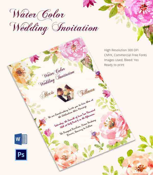 Wedding Invitation Template 71 Free Printable Word PDF PSD – Free Wedding Invitation Cards Templates