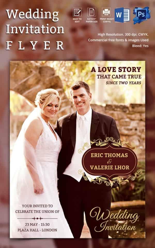 Wedding Invitation Flyer Download