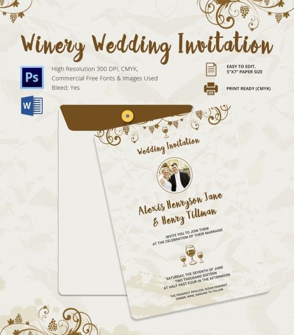 Wedding Invitation Template 71 Free Printable Word PDF PSD – Free Invitation Card Templates