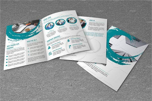 corporate square brochure mockup