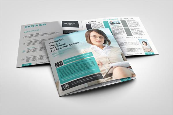 Square Bifold Catalog Brochure Mockup