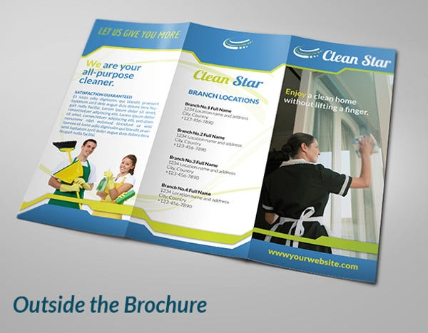 8 cleaning company brochures designs templates free premium