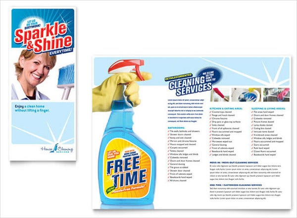 house cleaning company brochure1