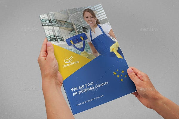 modern cleaning company brochure