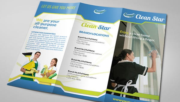 11 Cleaning Company Brochures Templates