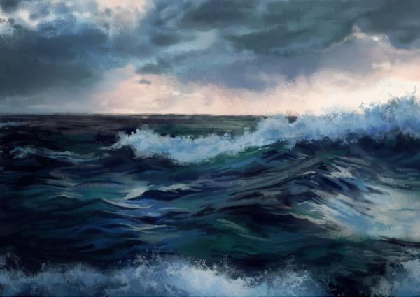 9+ Ocean Paintings - Art & Inspirations | Free & Premium ...