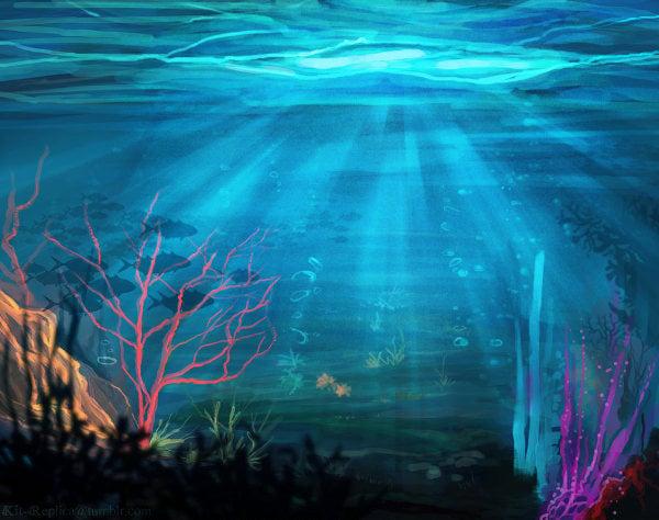 underwater ocean painting