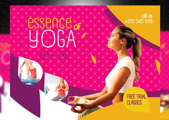 health and fitness yoga flyer1