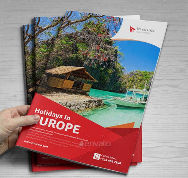 holiday travel company brochure
