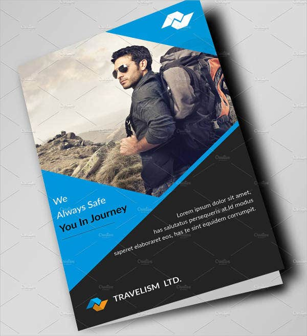 travel company bifold brochure