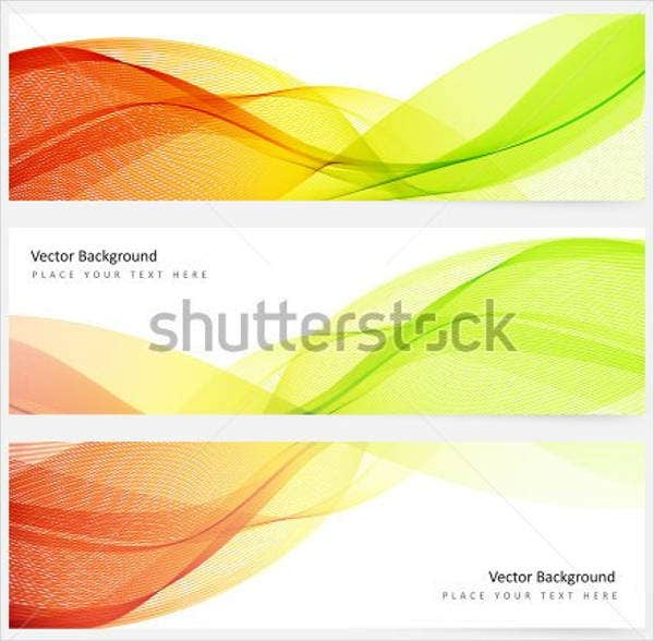 abstract horizontal banner