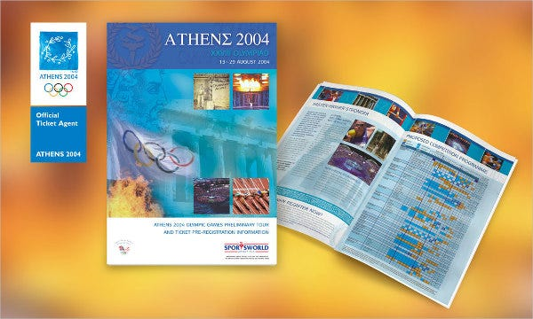 sports event company brochure
