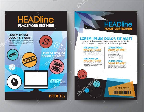 15 software company brochures design templates free for Software for designing brochures