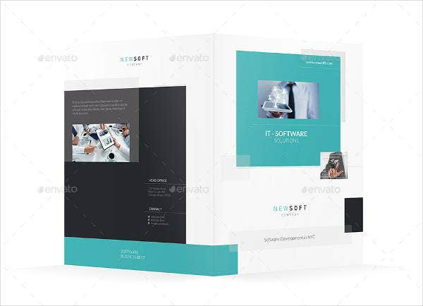software company bifold brochure