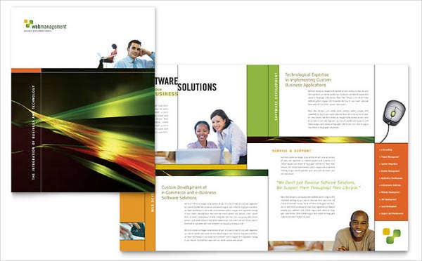 9+ Software Company Brochures - Design, Templates | Free & Premium