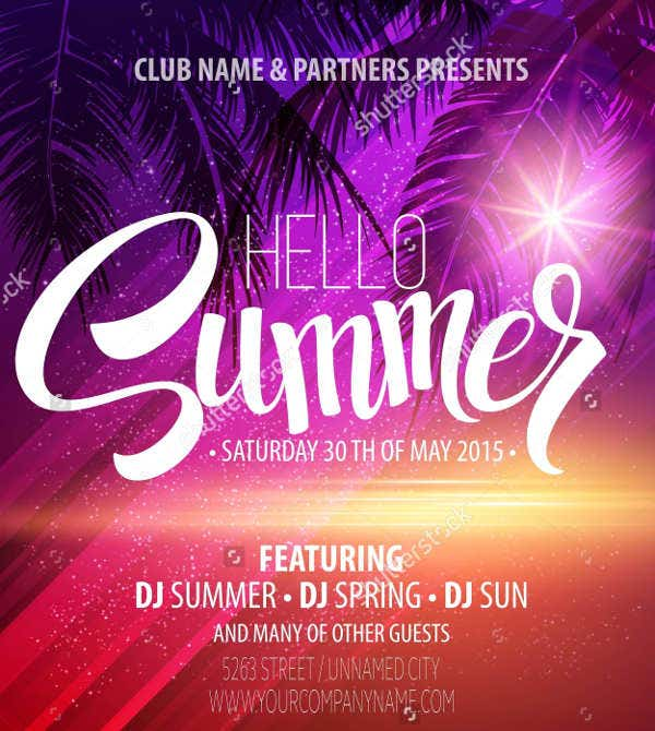12  summer party flyers