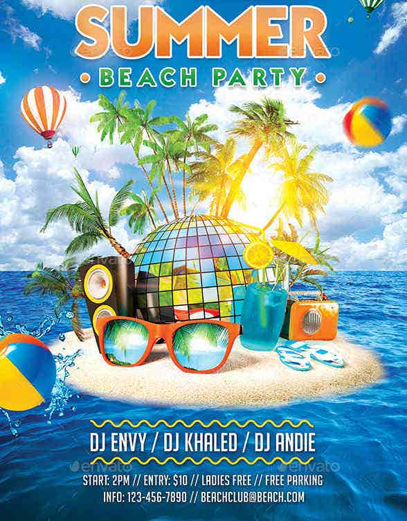 9 summer party flyers design templates free premium templates